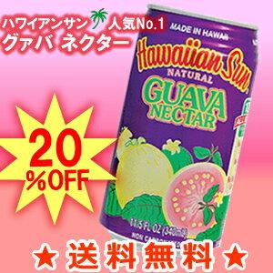 【送料無料】グアバネクター 340ml 1ケース(24本)【ハワイアンサン】【グァバジュース】 hawaiian sun※この商品はラッピング指定出来ません。【沖縄・離島は別料金加算】