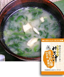 ★本格派フリーズドライ★ぜいたくみそ汁(ほうれん草)一人前×10 味噌汁
