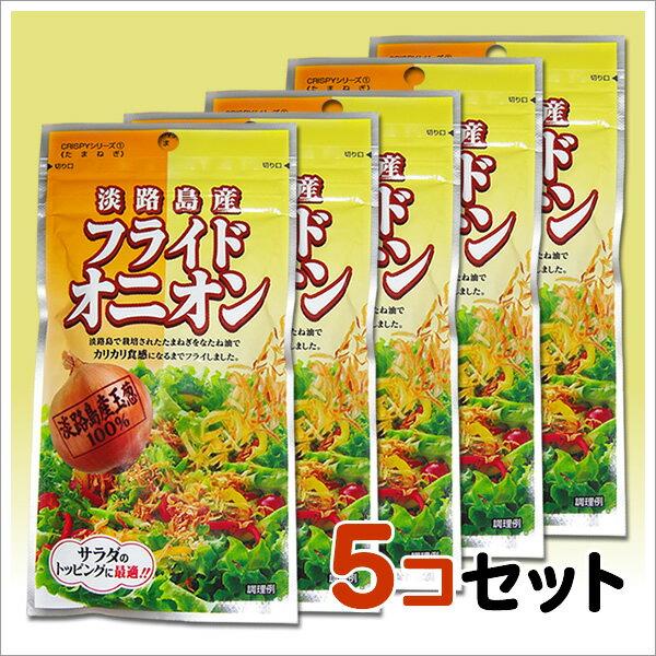 送料無料! メール便でお届け♪ 淡路島産玉葱をサクサクにフライしました! フライドオニオン 23g X5