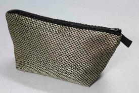 西陣織帯地 ポーチ 鹿の子柄(織疋田) 絹100% 化粧ポーチ メール便送料無料