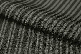 東レ シルジェリー 男物きもの 反物 縞 黒 チャコールグレー 洗える着物 男物 着尺 ポリエステル 広巾 広幅 日本製