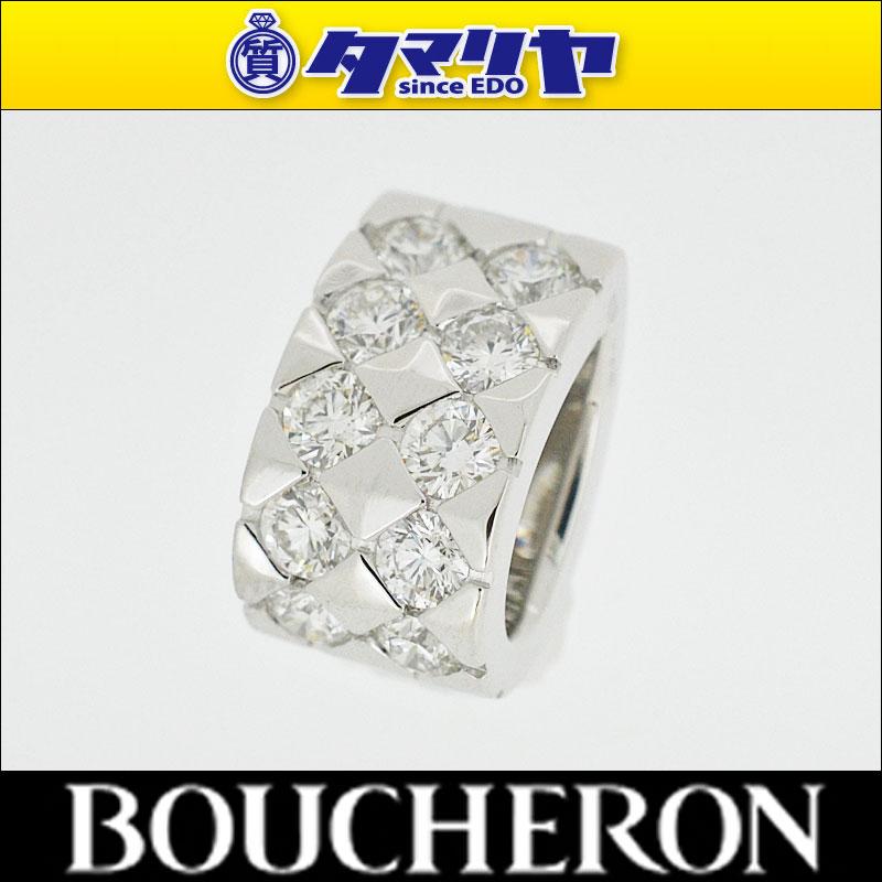 BOUCHERON ブシュロン ディアマン 10Pダイヤ ペンダントトップ 750 K18 WG ホワイトゴールド【代引き手数料】【送料無料】レディース ネックレス【中古】26871129