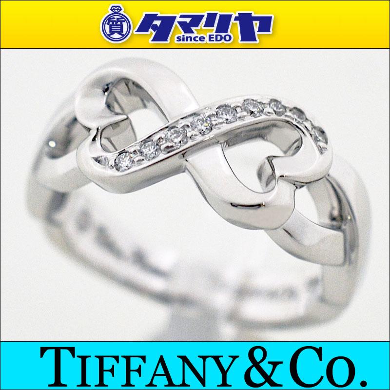 TIFFANY&Co ティファニー ダイヤ ダブルラビングハート リング 750 K18 WG ホワイトゴールド リング 日本サイズ約9号 #49【送料無料】【代引き手数料無料】レディース 【中古】2317203