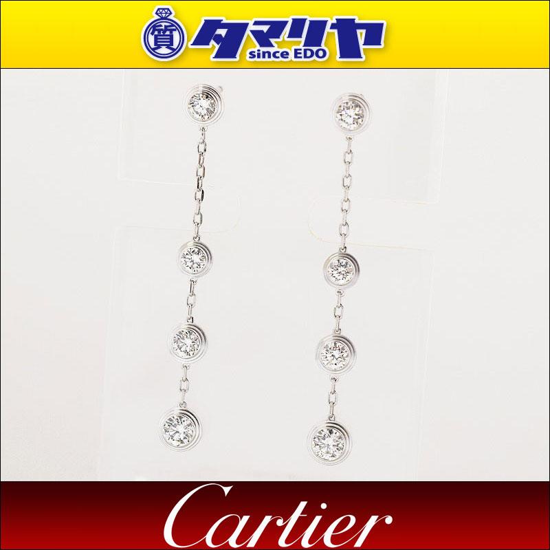 Cartier カルティエ ディアマン レジェ ドゥ カルティエ ダイヤ ピアス 750 K18 WG ホワイトゴールド【送料無料】【代引き手数料無料】イヤリング レディース 女性【中古】27340506