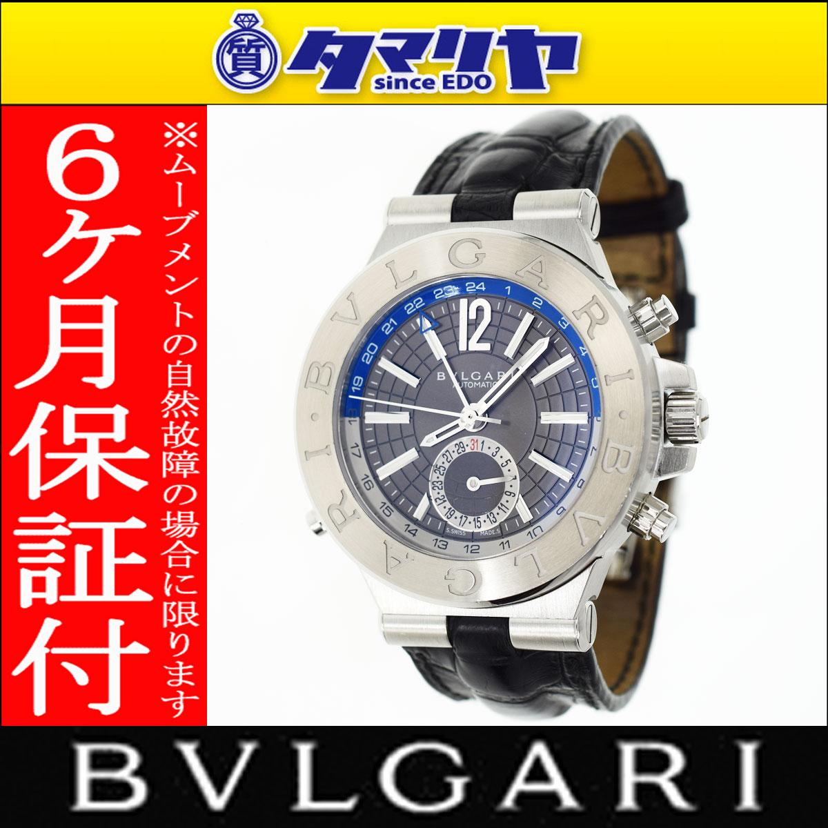 BVLGARI ブルガリ ディアゴノDG40S GMT 自動巻 SS ステンレス 【送料無料】【代引き手数料無料】腕時計 メンズ【中古】29200311
