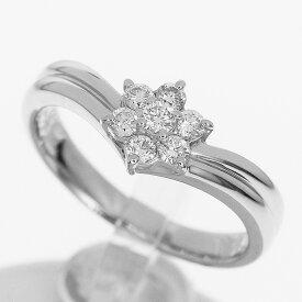 Star Jewelry スタージュエリー ダイヤ(D0.03ct/0.17ct) リング PT900 プラチナ 日本サイズ約10号 #50【送料無料】【代引き手数料無料】指輪 レディース【中古】32120208