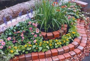 250kg/簡単にレンガのお庭ができる!キュアガーデン花壇KRタイプ[煉瓦れんがブロック花壇タイルエクステリアガーデニングブリックDIYお庭づくり自分でつくる庭BRICKGARDEN]