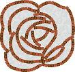 レンガとマサファルトでつくるテラス素敵なお庭!キュアガーデンイングリッシュローズテラスTIタイプ-マサファルト仕上げ・3cm高さ