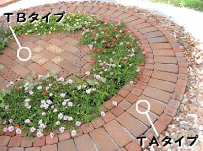 簡単にレンガのお庭ができるキュアガーデン テラスTAタイプ(外側円のみ)※北海道・沖縄は別途送料がかかります。