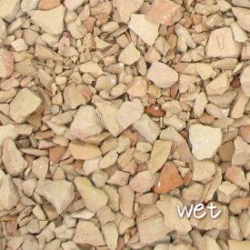 20kg レンガの砂利 サーモンベージュクラッシュブリック(20kg×1袋)5cm厚で約0.36平米分(60cm×60cm程度)北海道・沖縄は送料がかかります。[ 砂利 大量 庭 アプローチ 駐車場 花壇 植え込み レンガチップ レンガ砕石 ]