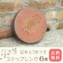 ワンコのステップレンガ ブラウン6個直径20cm×厚み3cm【送料無料 】