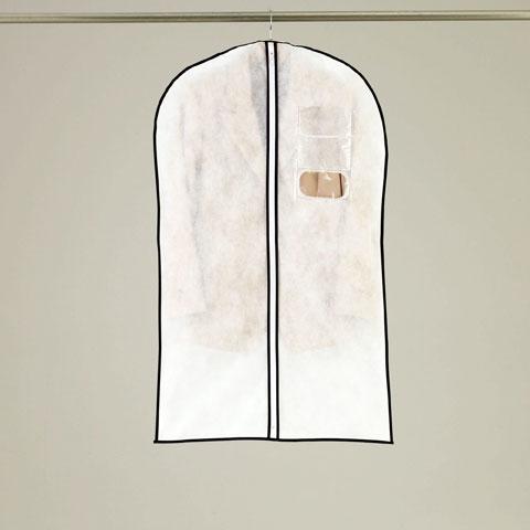 オール不織布タイプ センターファスナー洋服カバースーツ・ジャケットサイズ 3枚入【KS154】