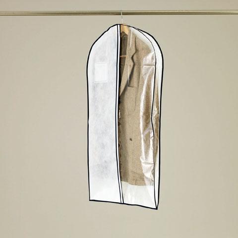 マチ付1/2透明タイプ センターファスナー洋服カバースーツ・ジャケットサイズ 3枚入【KS163】