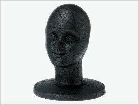 発泡ヘッドマネキン 顔付 黒 ディスプレイ 展示 帽子