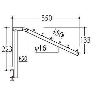 ロイヤル Vフェイスアウトスロープアップタイプ16φ Aニッケルサテン V-FSUK-16-6