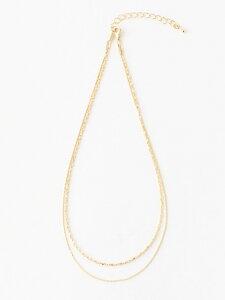 シンプル2連ネックレス MEW'S REFINED CLOTHES ミューズ リファインド クローズ アクセサリー ネックレス ゴールド シルバー[Rakuten Fashion]