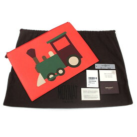 MOYNAT モワナ クラッチバッグ トレインGM フランス製 レザー Taurillon トリヨン ビビッドオレンジ セカンドバッグ 13375 【中古】