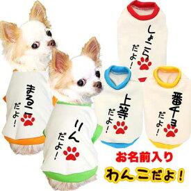 犬 服 犬の服 名入れ 秋冬 なぐりがき ペット 室内 ダックス トイプードル チワワ 服 おもしろ パグ|愛犬のお名前入り わんこだよ 3D