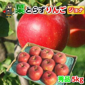 送料無料 青森 りんご 葉とらずりんご ジョナゴールド 5kg(18-20玉前後) 秀品 青森県産 産地直送 | 青森産 お土産 贈答用 葉とらず 青研 ギフト お取り寄せ リンゴ 果物 青森りんご 林檎 内祝