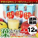 【 送料無料 】青研の葉とらずりんごジュース 1000g×12本入り 葉とらずりんご100 100% 青森 りんごジュース | 葉と…