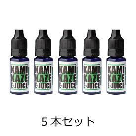 KAMIKAZE 電子タバコ スーパーハードメンソール 15ml 5本セット