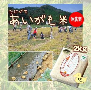 【令和元年 新米】【無農薬】たにぐちのあいがも米 2キロ(真空パック)兵庫県浜坂産 2kg