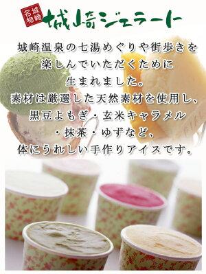 【お中元に!】城崎ジェラート10個詰め合わせセット城崎温泉で人気のスイーツ店chayaより直送★素材は全て天然素材を使用し、カラダに嬉しいこだわりのcyaya手作りアイスです♪