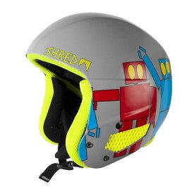【在庫処分】SHRED〔シュレッド スキーヘルメット〕BRAIN BUCKET ROBOT BOOGIE〔GREY〕〔SAH〕〔HG〕<15>