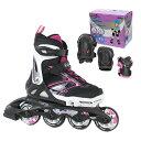 Rollerblade〔ローラーブレード〕 インラインスケート ジュニア SPITFIRE COMBO G〔Black/Pink〕【プロテクター付】〔SA〕