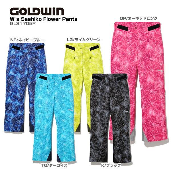 GOLDWIN〔ゴールドウィン スキーウェア パンツ レディース〕<2018>W's SASHIKO FLOWER PANTS GL31705P【技術選着用モデル】【GARA】
