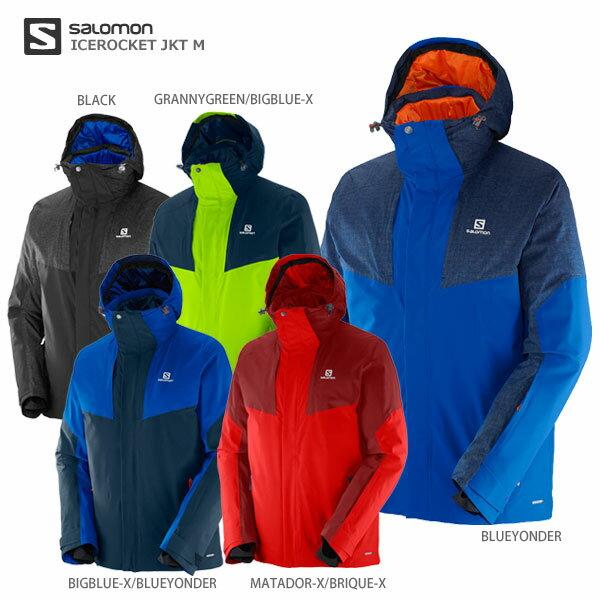 SALOMON〔サロモン スキーウェア ジャケット メンズ レディース〕<2017>ICEROCKET JKT M【送料無料】【MUJI】〔SA〕〔Sale〕