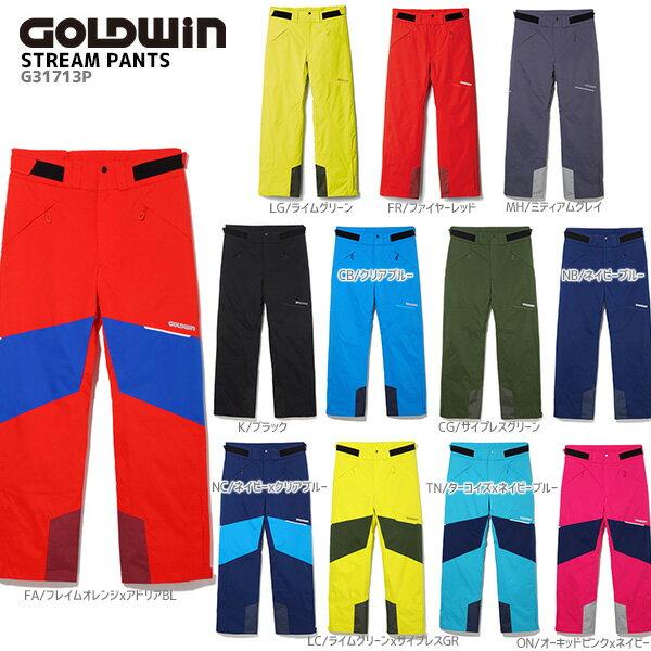 【P5倍!】【あす楽】GOLDWIN〔ゴールドウィン スキーウェア パンツ〕<2018>STREAM PANTS G31713P【技術選着用モデル】【MUJI】【TNPD】〔SA〕