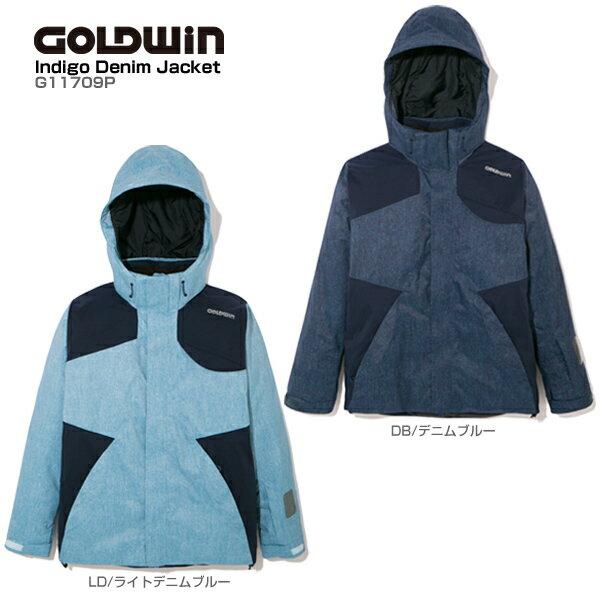 GOLDWIN〔ゴールドウィン スキーウェア ジャケット メンズ レディース〕<2018>INDIGO DENIM JACKET G11709P【送料無料】【MUJI】