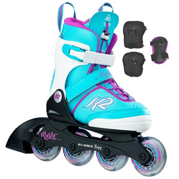 K2〔ケーツー〕インラインスケート ジュニア MARLEE PRO PACK【プロテクター付】【サイズ調整可能】