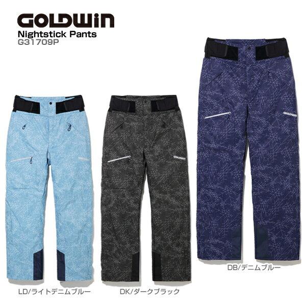 【P5倍!】【あす楽】GOLDWIN〔ゴールドウィン スキーウェア パンツ〕<2018>Nightstick Pants G31709P【送料無料】【GARA】