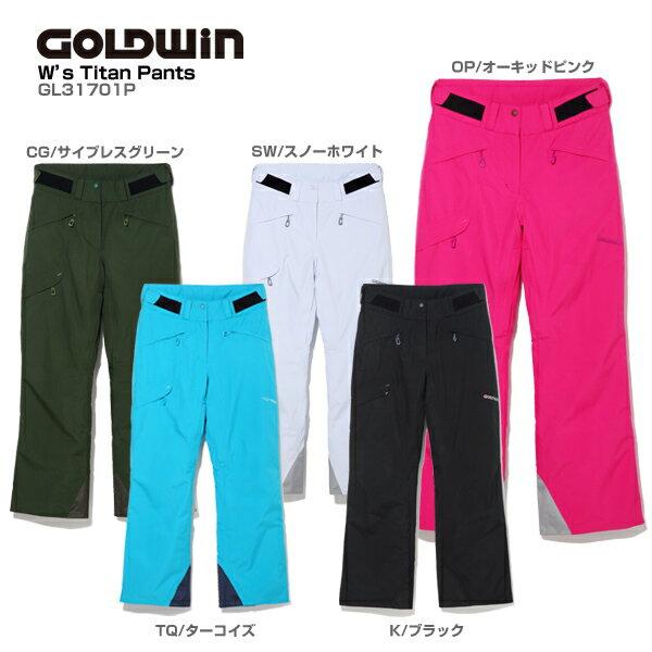 【1000円OFFクーポン配布中】GOLDWIN〔ゴールドウィン スキーウェア パンツ レディース〕<2018>W's Titan Pants GL31701P【送料無料】【MUJI】 スキー スノーボード