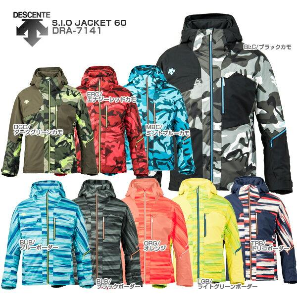 【スマホからエントリーでP10倍! 11/14 10時〜11/21 9時59分】DESCENTE〔デサント スキーウェア ジャケット メンズ レディース〕<2018>S.I.O JACKET 60/DRA-7141【送料無料】