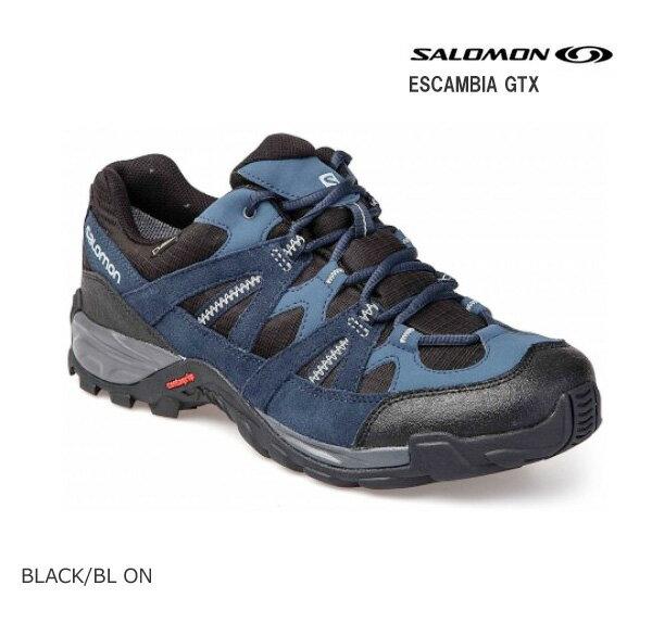 SALOMON〔サロモン スポーツシューズ トレイルランニング ハイキング〕ESCAMBIA GTX L38139600〔 BLACK/BL ON〕【GORE-TEX】