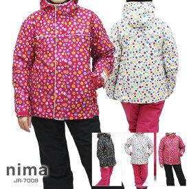 nima〔ニーマ スキーウェア キッズ ジュニア〕<2018>JR-7009【上下セット ジュニア】【サイズ調節可能】〔SA〕