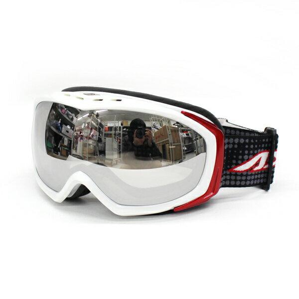 AXE〔アックス レディース スキーゴーグル〕<2016>AX700-WMD〔WT/ホワイト〕【眼鏡・メガネ対応ゴーグル】〔SAG〕