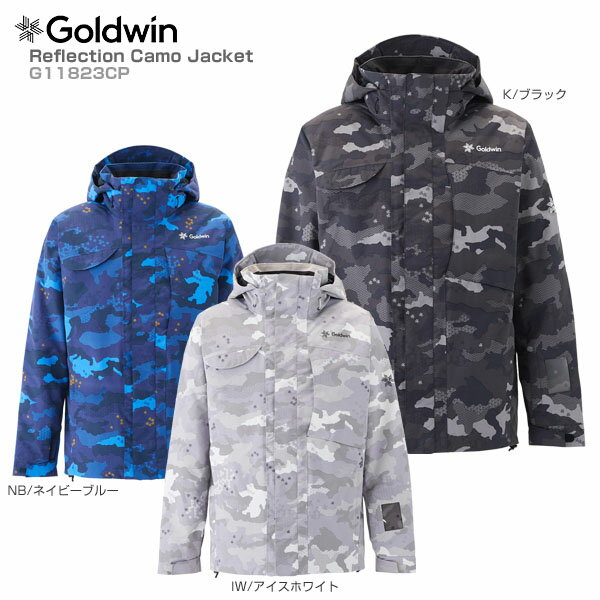 【P5倍!】【あす楽】【18-19 NEWモデル】GOLDWIN〔ゴールドウィン スキーウェア ジャケット〕<2019>Reflection Camo Jacket G11823CP【送料無料】【GARA】
