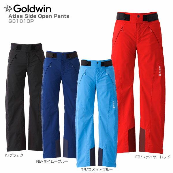 【スマホからエントリーでP10倍! 11/14 10時〜11/21 9時59分】【18-19 NEWモデル】GOLDWIN〔ゴールドウィン スキーウェア パンツ メンズ レディース〕<2019>Atlas Side Open Pants G31813P【送料無料】