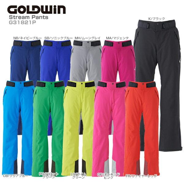 【18-19 NEWモデル】GOLDWIN〔ゴールドウィン スキーウェア パンツ メンズ レディース〕<2019>Stream Pants G31821P【カスタムサイズ】【送料無料】