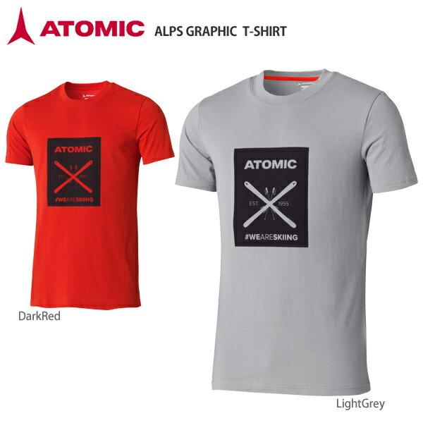 【スマホからエントリーでP10倍! 11/14 10時〜11/21 9時59分】【18-19 NEWモデル】ATOMIC〔アトミック Tシャツ〕<2019>ALPS GRAPHIC T-SHIRT
