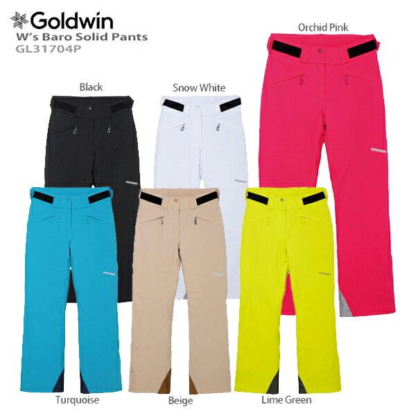【P5倍!】【あす楽】GOLDWIN〔ゴールドウィン スキーウェア パンツ レディース〕<2018>W's Baro Solid Pants GL31704P〔SA〕