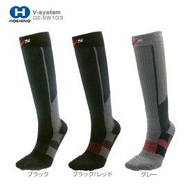18-19 V-system〔スキーソックス〕O2-SW103 スキンウール、薄手・ロング丈 靴下