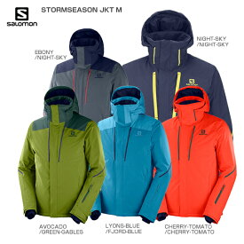 3/5限定エントリーで最大P25倍 SALOMON サロモン スキーウェア ジャケット 2020 LC1199200 STORMSEASON JKT M ストームシーズン 送料無料 19-20【HADB】