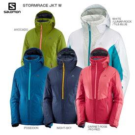 3/5限定エントリーで最大P25倍 SALOMON サロモン スキーウェア レディース ジャケット 2020 LC1208200 STORMRACE JKT W ストームレース 送料無料 19-20