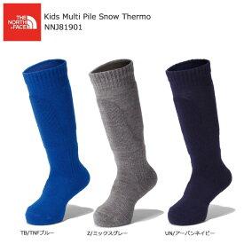 THE NORTH FACE〔ザ・ノースフェイス キッズ ジュニアスキーソックス〕<2020>KIDS' Multi Pile Snow Thermo / NNJ81901