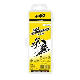 TOKO トコ ワックス Base Performance イエロー 120g 5502035 固形 スキー スノーボード スノボ